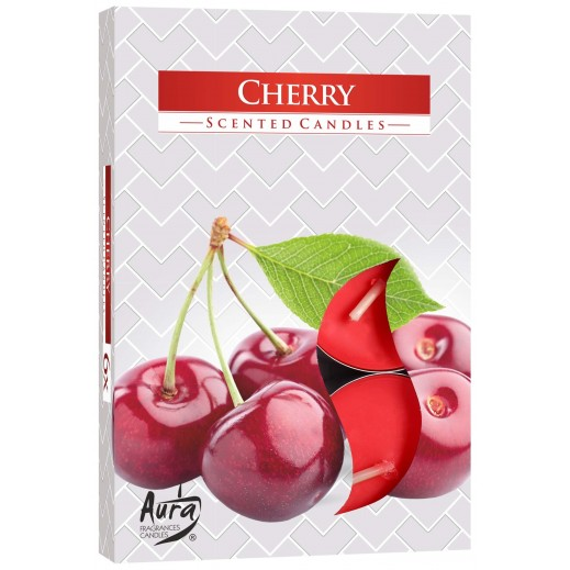 Aura Scented Candle Cherry 66 g - 6 Pieces