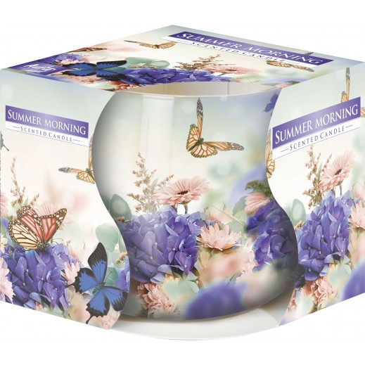 Aura Scented Candle with Decorative Film Summer Morning 100 g