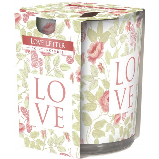 Aura Scented Candle with Decorative Film Love Letter 100 g