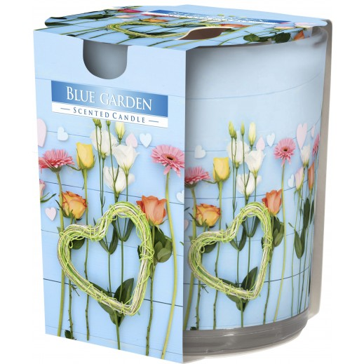 Aura Scented Candle with Decorative Film Blue Garden 100 g