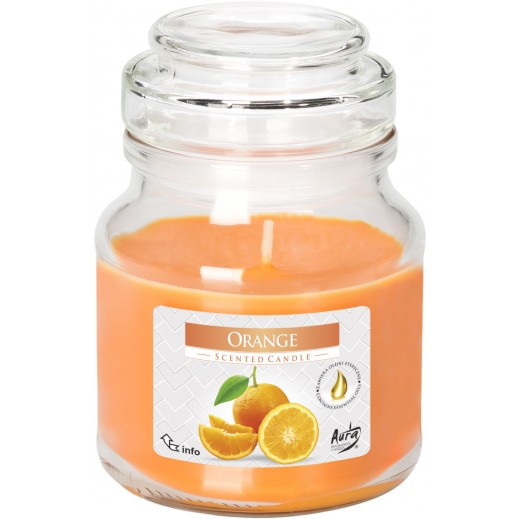 Aura Scented Candle with Lid Orange 120 g