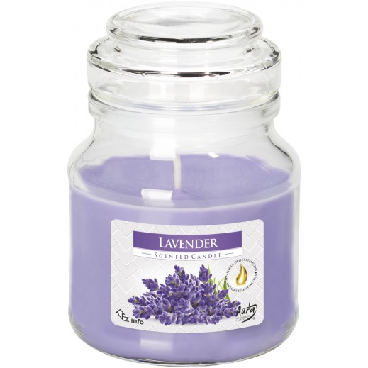 Aura Scented Candle with Lid Lavender 120 g