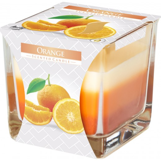 Aura 3 Coloured Scented Candle Orange 170 g