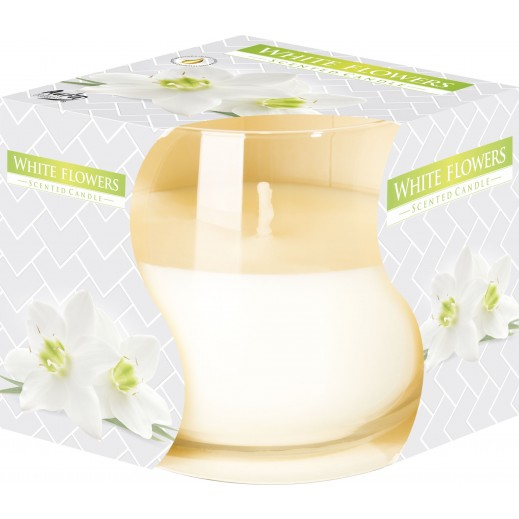 Aura Scented Candle White Flower 130 g