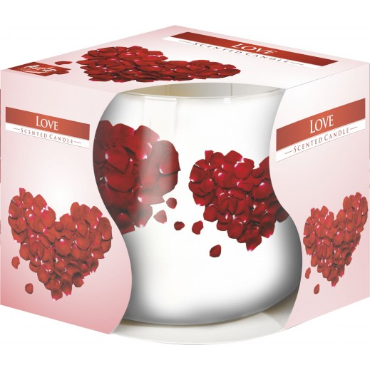 Aura Scented Candle with Decorative Film Love 100 g