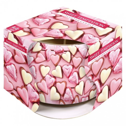 Aura Scented Candle with Decorative Film Sweet Temptation 100 g