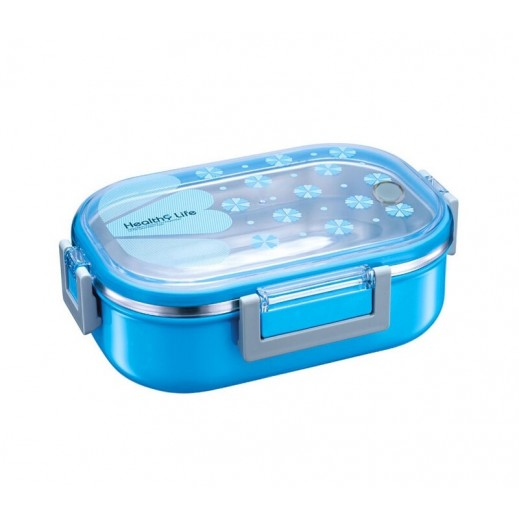 Healthy Life Stainless Steel Insulated Lunch Box Blue 980 ml
