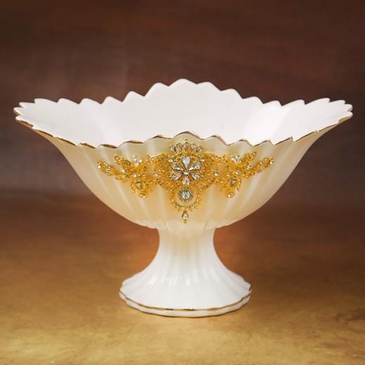 Ceramic Decorative Oval Fruit Bowl