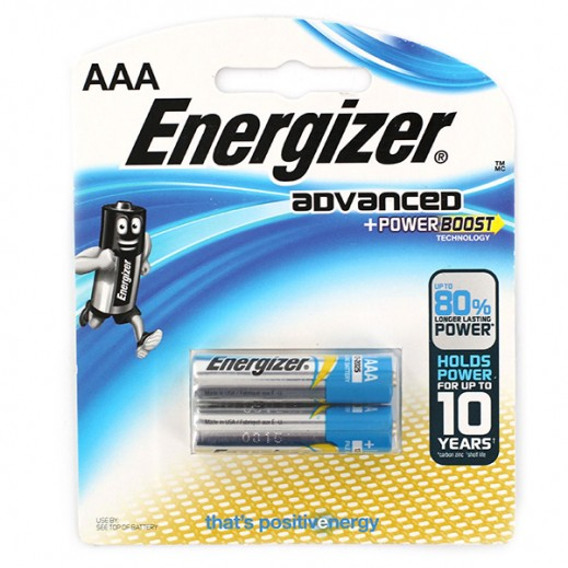 Energizer Advanced Alkaline AAA Battery 2 Pack
