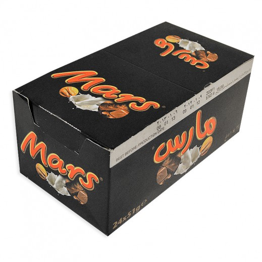 Mars Singles Chocolate 24x51 g