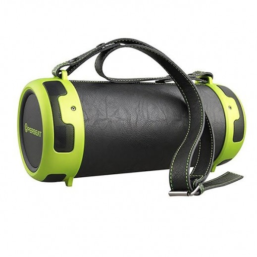 Prebeat Rechargeable Portable Bluetooth Speaker with Built-in Sub-Woofer – Black and Green