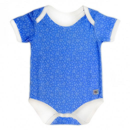 Babyglow Boys Body Suit Blue (3 - 6 Months)