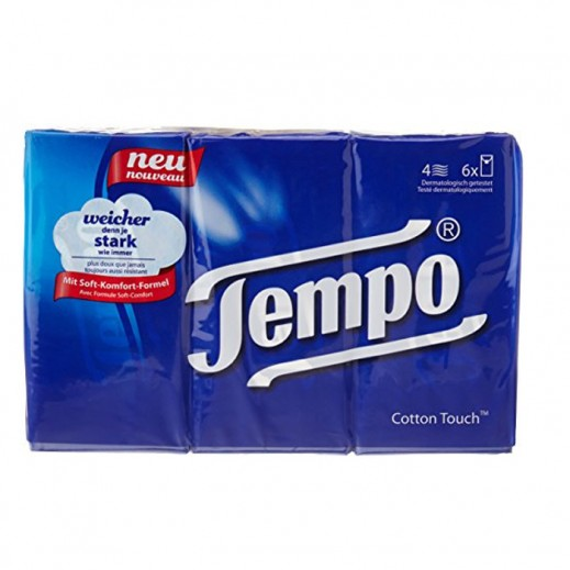 Tempo Pocket Tissue - 6 Pieces