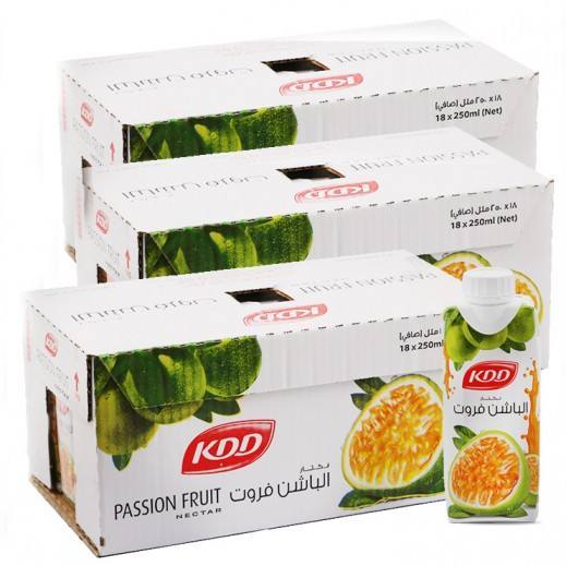 Wholesale - KDD Passion Fruit Juice 250 ml (3 x 18 pieces)