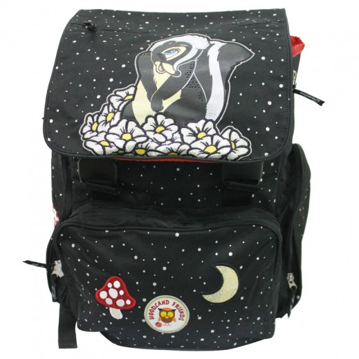 Disney WoodLand Friends School Bag Black Yellow