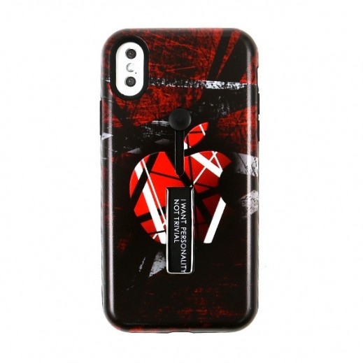 Boter Unique Case & Holder for iPhone X – Black, Red & white