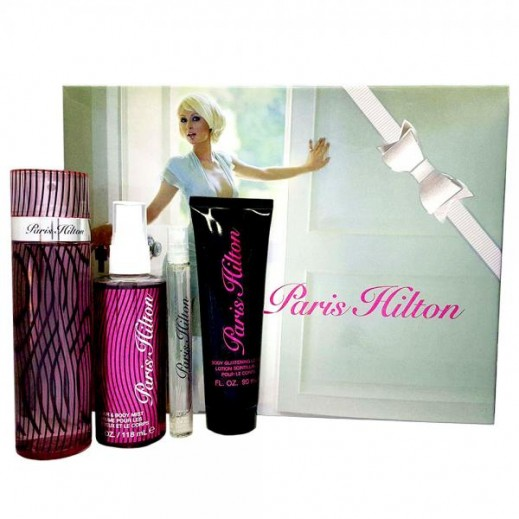 Paris Hilton Gift Set For Her EDP 100 ml + EDP 10 ml + Body Glistening Lotion 90 ml + Hair & Body Mist 118 ml