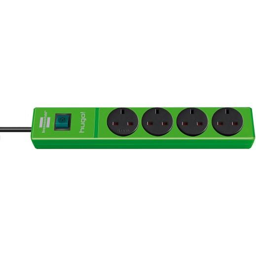 Brennenstuhl Hugo Extension Socket 4-way 2m - Green