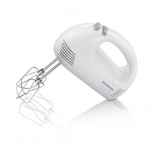 Severin Food Mixer With 2 Beaters & 2 Dough Hooks White-Grey HM3827