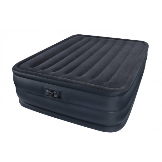 Intex Queen Raised Downy Airbed With Built-In Pump