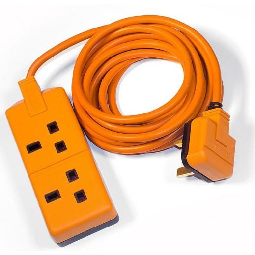 Permaplug Extension Socket 2 Way 4M 2500W - Orange