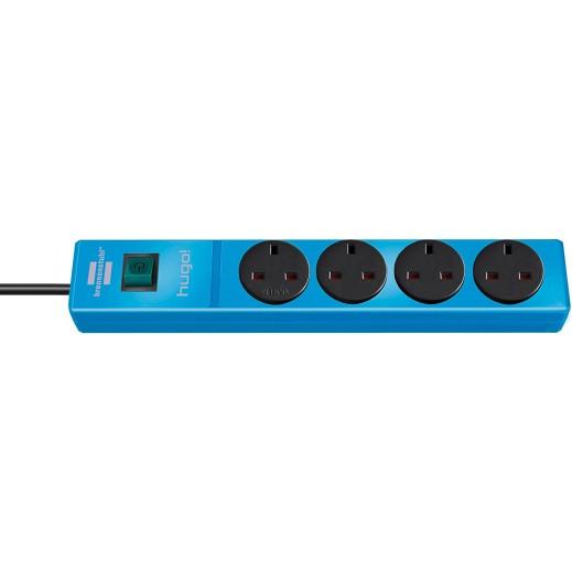 Brennenstuhl Hugo Extension Socket 4-way 2m - Blue