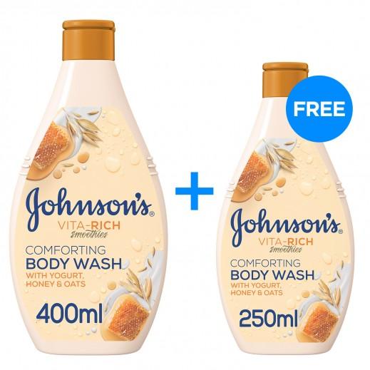 JOHNSON'S Honey & Yogurt Shower Gel 400 ml + 250 ml Free