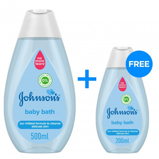 Johnson's Baby Bath 500 ml + 200 ml Free