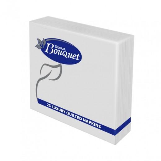 Sanita Bouquet Luxury Paper Napkins (24x24 cm) 25 Pieces White
