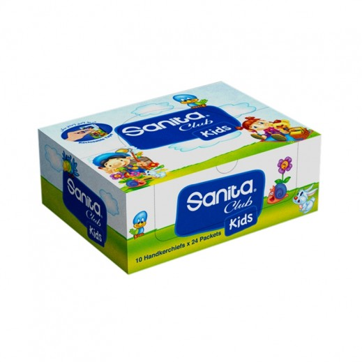 Sanita Kids Pocket Tissue 10 Pieces