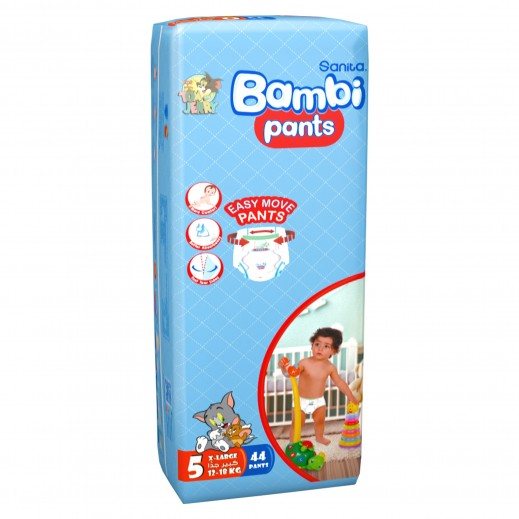 Sanita Bambi Pants Size 5 XLarge (12-18 Kg) 44 Pieces