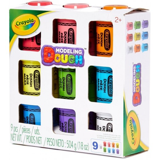 A1 Toys Crayola 2 Ounce Multi Pack Dough 9 Pieces