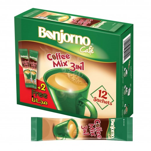 Nestle Bonjorno Cafe 3 in1 Coffee Mix 16 g (10 + 2 Free)