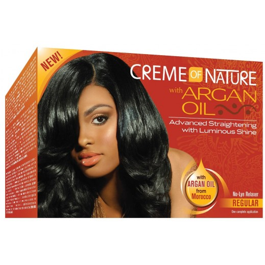 Creme Of Nature With Argan Oil Relaxer Regular Kit