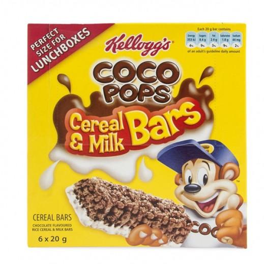 Kelloggs Coco Pops Milk Creal Bar 6x20 g