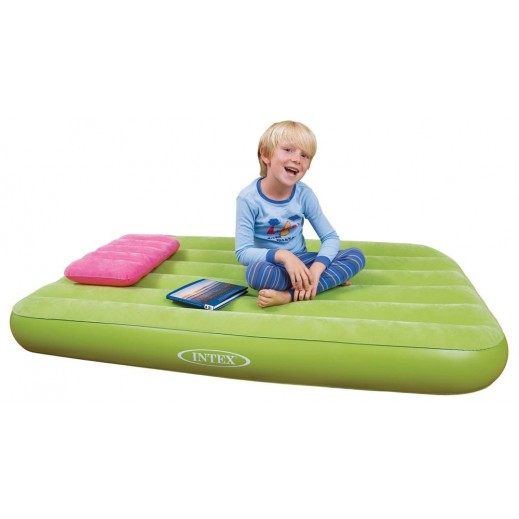 Intex Cozy Kids Airbed (Ages 3-10) - Green