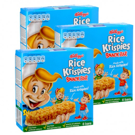 Kelloggs Rice Krisipes Cereal Bar 6x20 g (3 Packs)