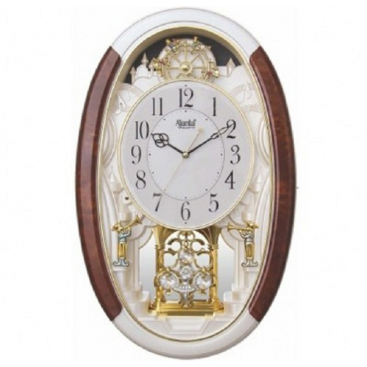 Ajanta Classic Musical Pendulum Wall Clock – Multi-Color