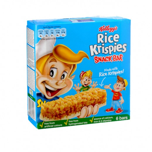 Kelloggs Rice Krisipes Cereal Bar 6x20 g