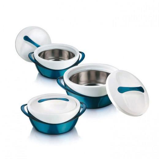 Panache Metallic Food Warmer Set - 3 Pieces