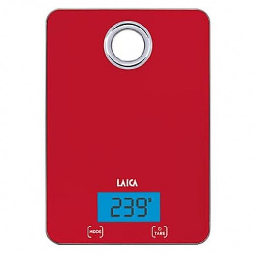 Laica Kitchen Scale Touch Sensor Red