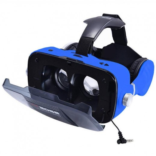 VR BOSS 3D Integrate Visual & Audition VR Headset with Mic - Dark Blue