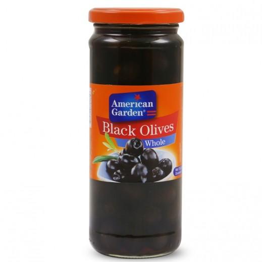 American Garden Whole Black Olives 450 g