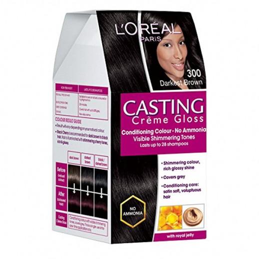 L'Oreal Paris Casting Crème Gloss Dark Brown 300 Hair Color