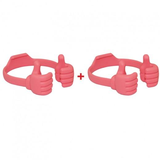 Buy 1 Get 1 Free Phone Bracket Little Thumb Pink