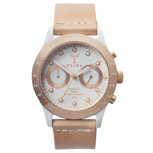 Triwa Ivory Rose Tan Brasco Chrono Watch - Quartz