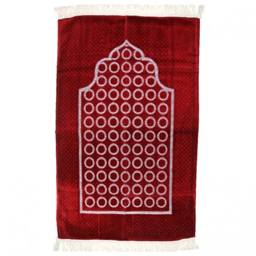 Prayer Mat with Circle Design - Maroon