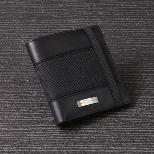 Valentino Orlandi Black Mens Plain Yacar Wallet - delivered by My Fair Lady
