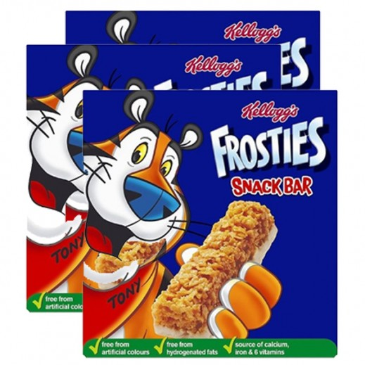 Value Pack - Kelloggs Frosties Creal Milk Bar 6 x 25g (3 Pieces)
