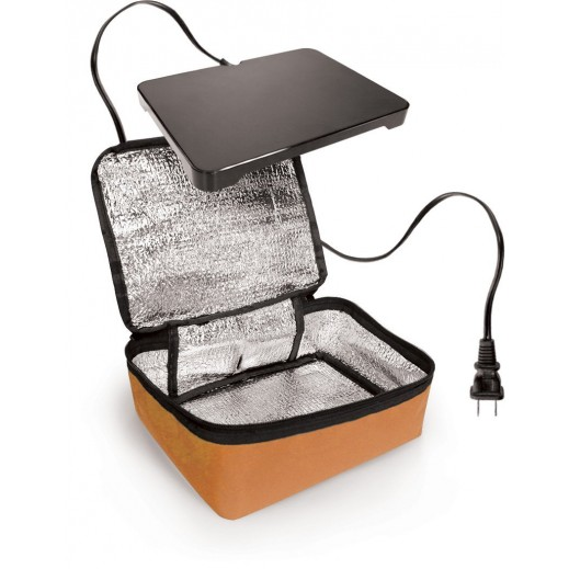 HotLogic Mini Personal Portable Oven Orange with Free Pyrex 1.5L Bowl